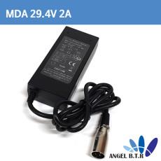 리튬이온배터리충전기 29.4V2A 29.4V 2A 60W/전기자전거,전동퀵보드 충전기 3핀항공짹