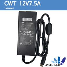 [중고][CWT]2AAL090F/ 12V7.5A/12V 7.5A/90W 4핀 상/하 넷기어 NAS RN10400/RN31400 아답타